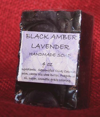 Black Amber Lavender Soap